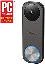 Remo+ RemoBell S WiFi Video Doorbell Camera with HD Video, Motion Sensor, 2-Way Talk, and Alexa Enabled (No Monthly Fees) (F