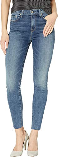 7 For All Mankind Women's B(Air) High Waist Ankle Skinny in Luck B(Air) Luck 29 27
