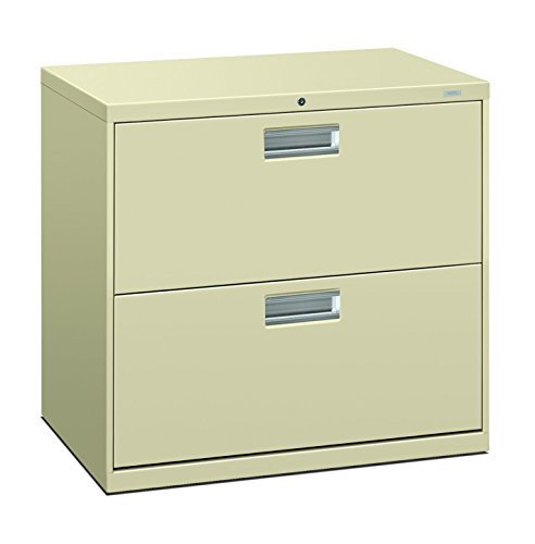 HON 672LL 600 Series 30-Inch by 19-1/4-Inch 2-Drawer Lateral File, Putty (Hon Mobile File Pedestal)