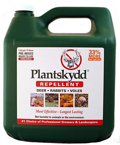 Plantskydd PS-5L Organic Deer Repellent, 1.3 Gallon Ready To Use Jug, Repels Deer, Elk, Moose, Rabbits and Voles