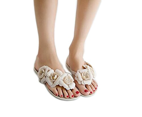 Da.Wa Sandalias y Chanclas Zapatos de Verano Femenino Estilo de Flor Para Interior y Playa