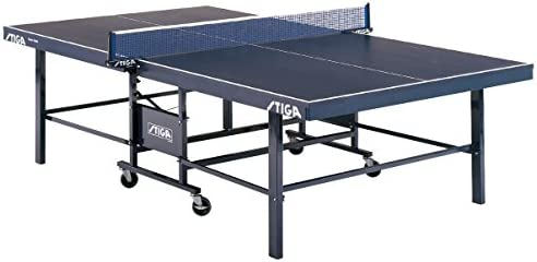 STIGA Expert Roller Transportable Indoor Table Tennis Table with 72 Clipper Net and Post Included