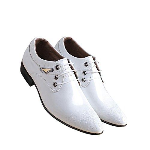 Pelle Scarpa Vestito Scarpa di Scarpe Style Uomo Sintetica Martin Pelle Elegante per in Bianco Comfort Affari Punta Scarpa Uomo Pelle Oxfords British Mocassini Piedi pAw1XXq