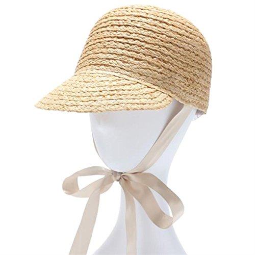 Women Summer Sun Hat with Long Ribbon Straw Hat Equestrian Cap Feamle UV Protection Gorras Chapeu Feminino