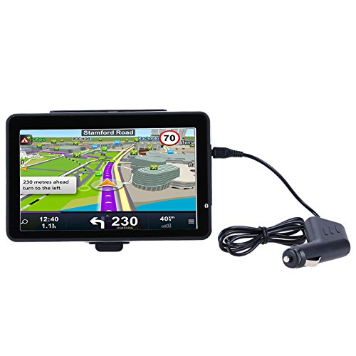 Alloet 7'' Truck Car GPS Navigator with Free Maps Car Charger Music Player (701) by Alloet
