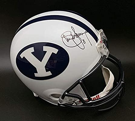 Steve Young SIGNED Brigham Young University F S Helmet ITP AUTOGRAPHED -  PSA DNA Certified - Autographed College Helmets 641d966bd