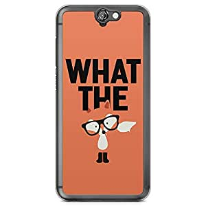 HTC One A9 Transparent Edge Phone Case Fox Phone Case What The f A9 Cover with Transparent Frame