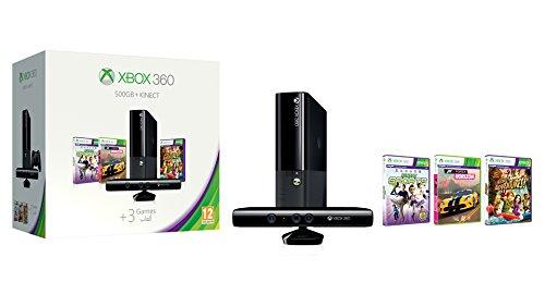 Microsoft Xbox 360 + 500GB + Kinect + Kinect Sports + Forza Horizon + Kinect Adventures