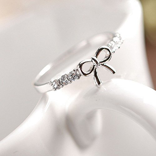 silver women friend pin gift cute ribbon for bow day rings ring valentine best friendship