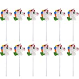 "Kicko 2"" Head Unicorn Lollipops - Pack of 12 Magical Candy Suckers for Party Favors, Cake Decorations, Novelty Supplies or Treats for Halloween, Christmas, Baby Showers"