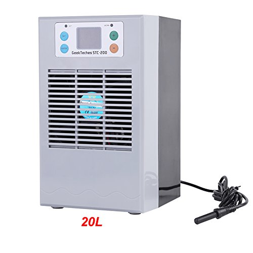 Fish Tank Water Heater,100-240V Fish Tank Water Cooling Heating Machine Thermostat for Aquarium Aquaculture Uses (20L - Cooler Fish Tank