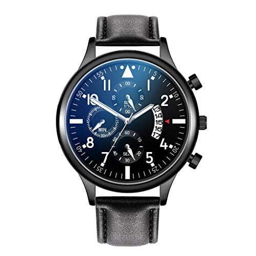 Londony  Men's Fashion Minimalist Wrist Watch Analog Date with Stainless Steel Mesh/Leather Band Business Wrist Watch