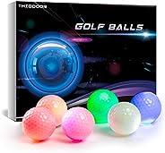 GOANDO Glow Golf Balls Night Sports Light up LED Golf Ball Glow in The Dark Golf Balls Multi Colors of Blue, Y