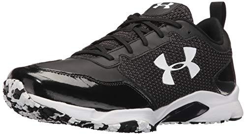 (Under Armour Men's Ultimate Turf Trainer Baseball Shoe, Black (001)/Black, 10.5)