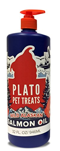 PLATO Treats Wild Alaskan Salmon Oil Dog Treat, 32-Ounce