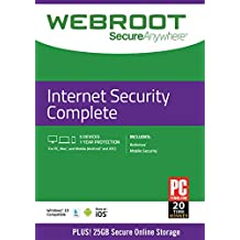 WEBRC Webroot SecureAnywhere  Internet Security Complete 1 Year 5 device  (5-Users)