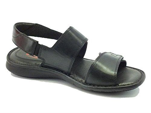 Nero Zen De Hombre Sandalias 476756 Negro Piel Vestir Para TTrO5