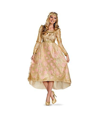 Deluxe Aurora Adult Costumes (Aurora Coronation Gown Deluxe Adult Costume - Medium)
