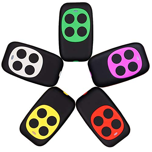 XIHADA Universal Garage Door Remote Garage Door Opener Remote Gate Remote Control Programmable Learning 4-Buttons Multi Frequency 280MHZ-868MHZ … (5, (White, Red, Green, Yellow, Purple))