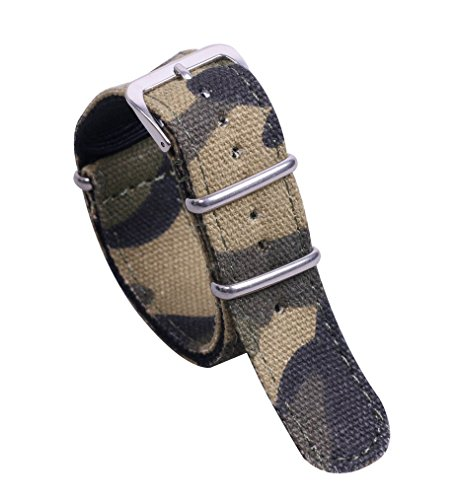 20mm Camouflage High-end Superior Delicate NATO style Nylon Watch Band Strap Replacement for Men
