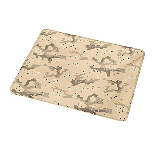 Gaming Mouse Pad Camo,Abstract Shapes Background Hiding in The Desert Theme Design,Pale Orange Sage Green Army Green,Gaming Non-Slip Rubber Large Mousepad 9.8