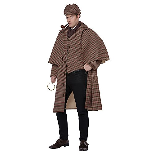 (California Costumes Men's English Detective/Sherlock Holmes Adult Man Costume, tan/Brown, Extra Large)