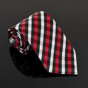 EAGC0047 Black Red Grey Checkered Microfiber Male Ties Best Shopstyle Extra Long Tie By Epoint