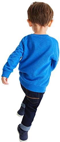 Taille 92//98//104//110//116//122 EULLA Sweat-shirt unisexe avec motifs /Élan en tissu polaire coton