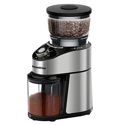 Conical Burr Coffee Grinder, Adjustable Burr Mill Electric Coffee Bean Grinder with 12 Precise Grind Settings for…