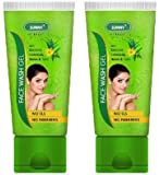 Bakson's Sunny Face Wash Gel with Aloevera, Calendula, Neem and Tulsi 100gm Pack of 2