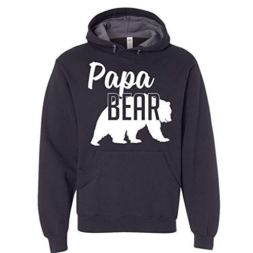 Papa Bear Hoodie Dad Mens Soft Hoodie Adult Unisex Sweatshirt