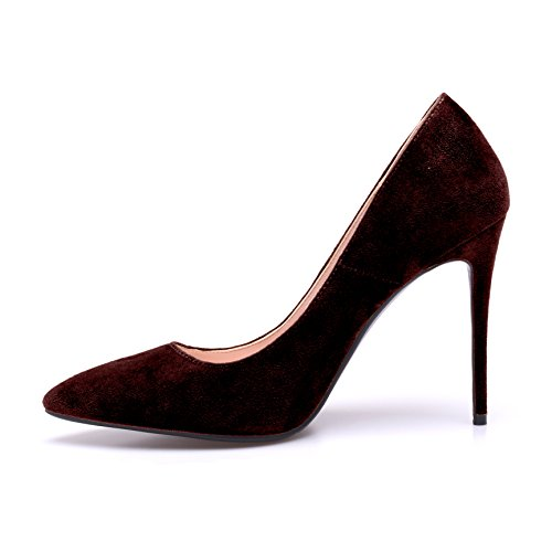 Stiletto Pumps Woman Shoes Heel Womens ZAPROMA High B Pointed Wedding Red Toe R7t6B