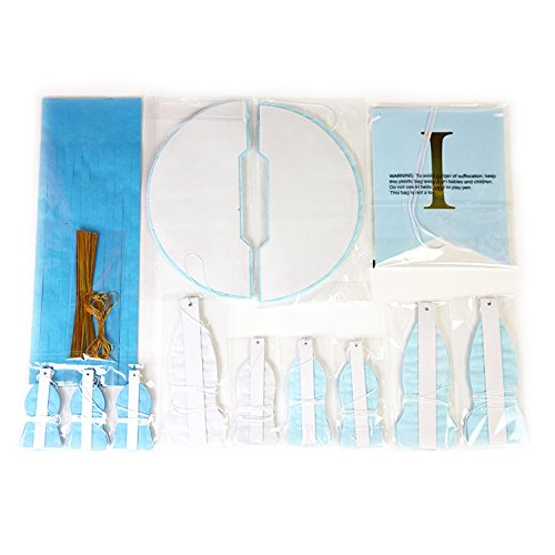 Large Product Image of Baby Shower Decorations for Boy, It's A Boy, Banner, Tissue Paper, Fans, Honeycomb Paper Balls, Tassels, Blue, Gold Foil, Hanging, Party Supplies, Indoor/Outdoor