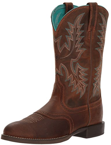 Ariat Women's Heritage Stockman Western Boot, Sassy Brown, 8 B US