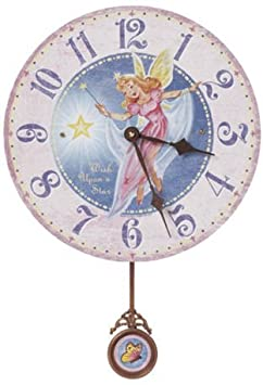 Floating Circus Storytime Fairy Wall Clock , 13-Inch