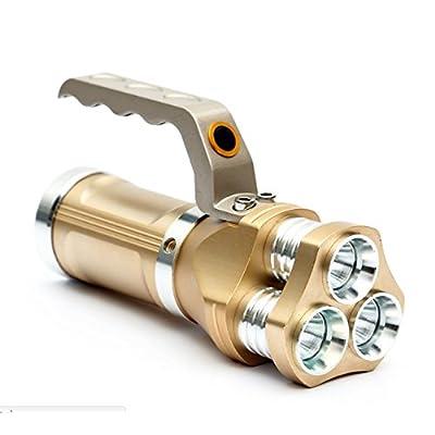 Hangang Super Bright batterie CREE T6LED lampe de poche torche extérieur étanche Portable de haute Alimenté Spotlight mise au point réglable Zoomable lampe torche Searchlight Projecteur &agra