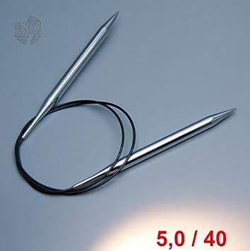 100 cm//8,0 mm Lana Grossa Wolle Kreativ Rundstricknadel Messing