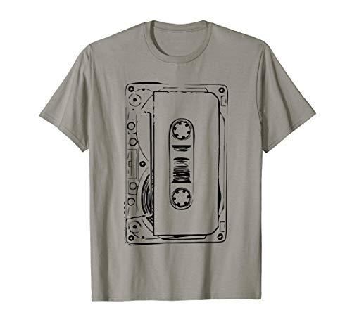 Love Retro Mixtape 80's Blank Cassette Tape Shirt Gift (Shirt Tape Recorder)