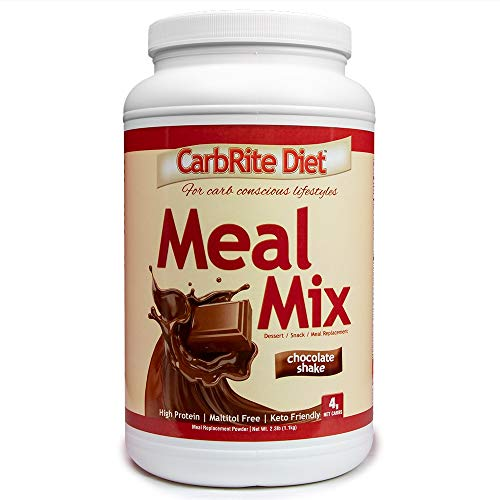 CarbRite Diet Meal Mix - for Keto & Low Carb Diets - Gluten-Free - 12 Essential Vitamins & Minerals with Electrolytes & only 4g net Impact Carbs - Chocolate - 21 Servings (Chocolate Carbrite Doctors Diet)