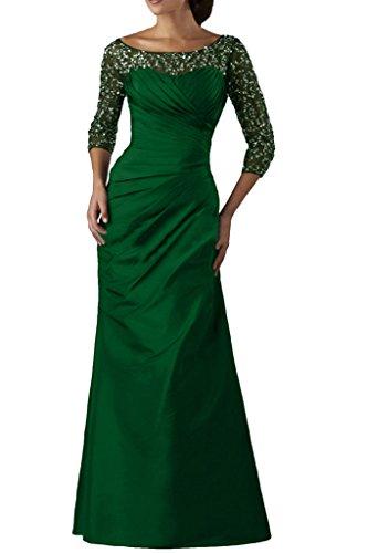 Abendkleid amp;Tuell Aermel Lang 4 Ivydressing Grün Taft Paillette 3 Promkleid Festkleid Ballkleider Elegant Damen n8nxC7
