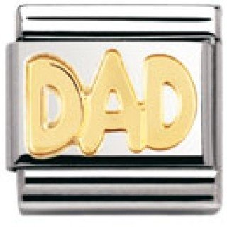 b898e3251 Nomination Composable Classic Signs Dad Stainless Steel and 18K Gold:  Amazon.co.uk: Jewellery