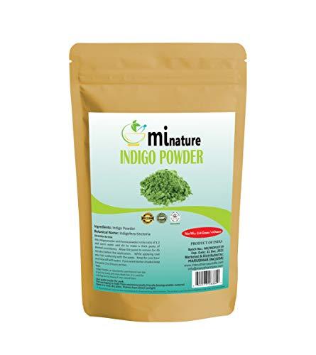 Natural Indigo Powder -Indigofera Tinctoria, Rajsrhani Indigo Powder for hair dye, Natural hair color by mi nature