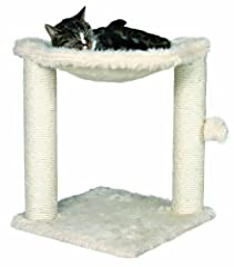 The Baza Cat Hammock will provide endless opportunities for cats to play and scratch or just relax.  Felines can sharpen their claws on any one of two scratching posts instead of on your furniture or carpet, giving them a healthy outlet for their scr...