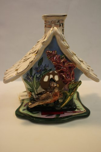 Blue Sky Clayworks Robin's Song Bird Tea Light Holder #11229