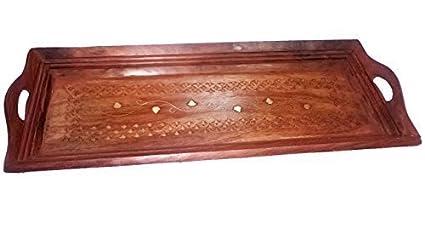 Madera Hecho a mano 13 x 6 cm bandeja, bandeja de madera hermosa bandeja de