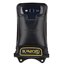 DICAPac WP-C1 Galaxy Phone Waterproof Case with Neck Strap for Samsung Galaxy S2 and Galaxy S3, Black