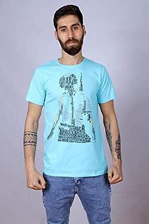 mark&shark Round Neck T-Shirt For Men