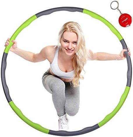 Foluton Hoola Hoop Reifen Erwachsene Abnehmbar und Größenverstellbar Professionelle Soft Fitness Übung Hullahub Reifen Fettverbrennung Gesundes Sportleben mit 360 Grad Massagefunktion