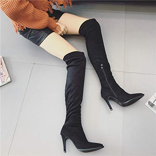 in Knee and Black and winter boots autumn and high boots nPq6aPUp