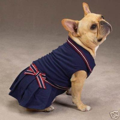 Zack & Zoey Nautical Polo Dog Dress NAVY LARGE